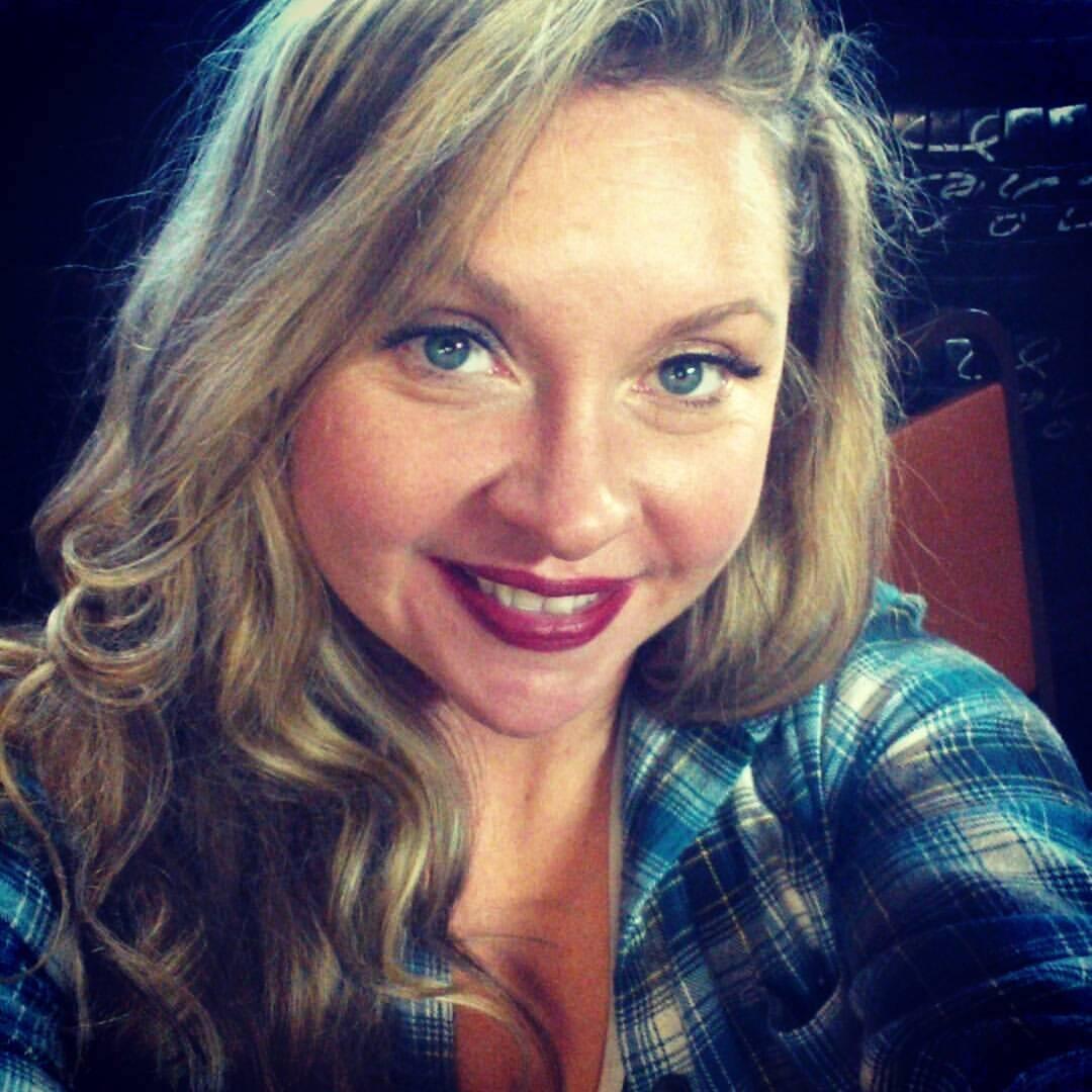 Danielle Chapman blue flannel shirt